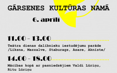 6. aprīlī Aknīstes novadā Teātra diena