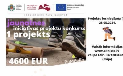 """Aknīstes novadā ikgadēji  tiek izsludināts jauniešu iniciatīvu projektu konkurss """"PuMPuRS"""""""