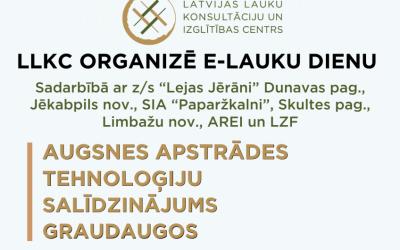 """SIA """"Latvijas Lauku konsultāciju un izglītības centrs"""" organizē Lauka dienas"""