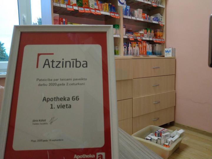 Augsti novērtētas Apotheka farmaceites Aknīstē