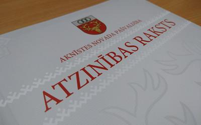 Aknīstes novadā  Latvijas valsts 101. jubilejas pasākumā  godinās labākos.