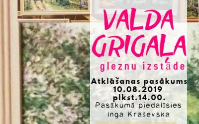 Novadnieka Valda Grigaļa gleznu izstāde