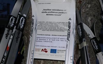 Āra treniņa nodarbība distanču slēpošanā