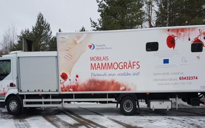 2021. gada 13. februārī aicina uz mamogrāfijas izmeklējumu