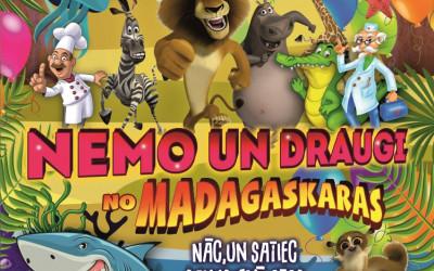 """Izrāde bērniem """"Nemo un draugi no Madagaskaras''"""