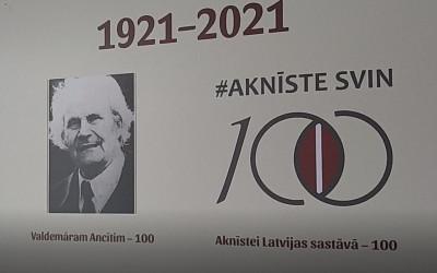 Valdemāram Ancītim 100 gadu jubileja.