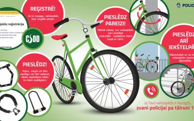 Informācija un atgādinājums par velosipēdu drošību